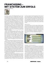 Franchising - mit System zum Erfolg - Schweizer Franchise Verband