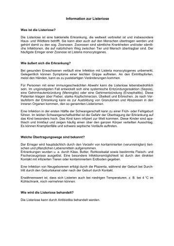 Information zur Listeriose - Frankfurt am Main