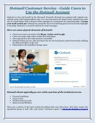 Hotmail Customer Service – Guide Hotmail Users