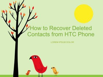 How to Recover Deleted Contacts from HTC Phone