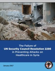 UN Security Council Resolution 2286 in Preventing Attacks on Healthcare in Syria