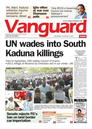 12012017 - UN wades into South Kaduna killings