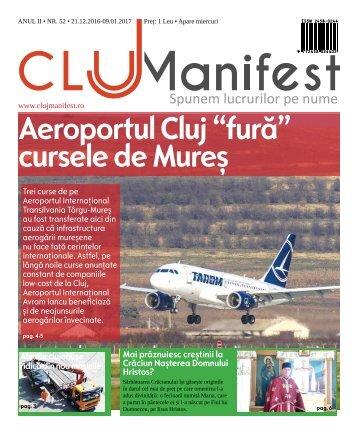 ClujManifest 2017 - Editie Tiparita - An 2 - Nr.51 - 21 Decembrie - 9 Ianuarie 2017