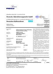 Deutschen Kalibrierdienst - Frenco GmbH