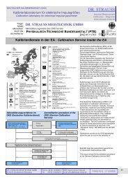 Kalibrierdienste in der EA / Calibration Service inside the EA