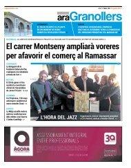 El carrer Montseny ampliarà voreres per afavorir el comerç al Ramassar