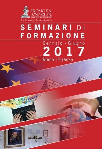 Catalogo seminari di formazione gennaio-giugno 2017