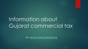 Information about Gujarat commercial tax