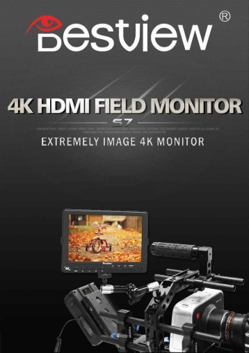 Bestview S7 Full HD 4K HDMI supporting monitor brochure
