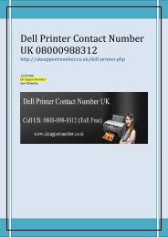 Dell Printer Support Number UK 0800-098-8312 Dell Printer Customer Care Number UK