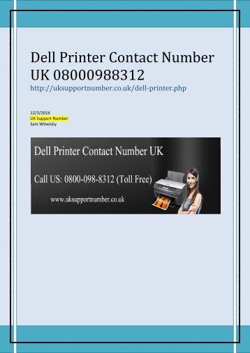 Dell Printer Support Number UK 0800-098-8312 Dell Printer Customer Care Number UK