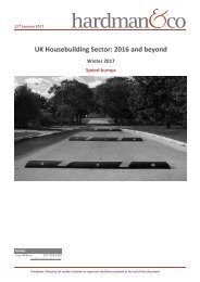 UK Housebuilding Sector 2016 and beyond