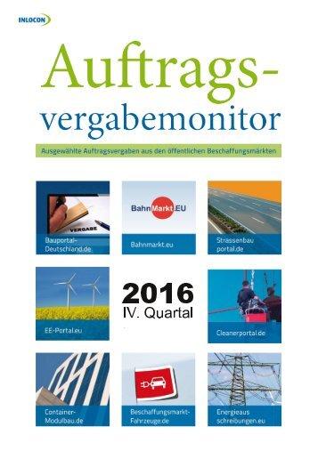 Auftragsvergabemonitor 4. Quartal 2016