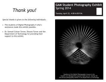 GAM Exhibit Program