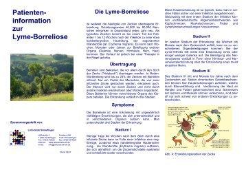 Patienten- information zur Lyme-Borreliose - Laborärzte Sindelfingen