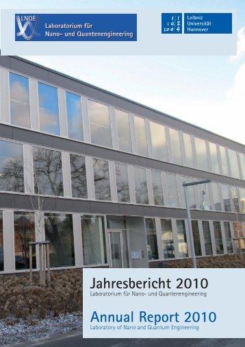 Jahresbericht 2010 - LNQE - Leibniz Universität Hannover