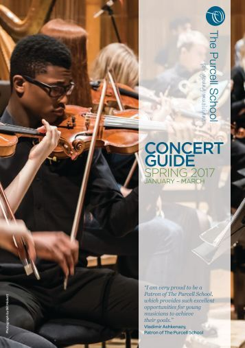 Purcell School Concert Guide Jan-Mar 2017