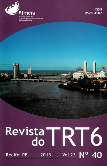 Revista do TRT 6 Nº 40