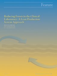 Reducing Errors in the Clinical Laboratory: A Lean ... - LabMedicine