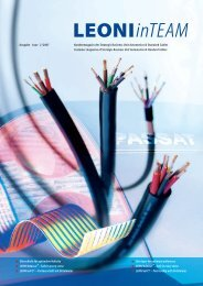 LEONI inTEAM 2/2007 - LEONI Business Unit Automotive Cables