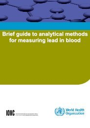 Analytical methods for measuring lead in blood - World Health ...