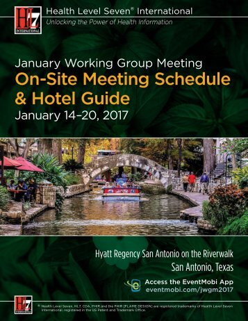 On-Site Meeting Schedule & Hotel Guide