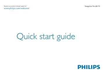 Philips DesignLine Tilt Téléviseur LED - Guide de mise en route - FIN