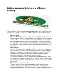 Safety measurement during end of tenancy cleaning