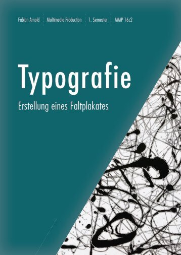Broschüre Typografie Fabian Arnold