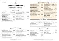 Grill House menu, Baltic Princess & Galaxy