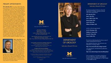 continued - University of Michigan Health System