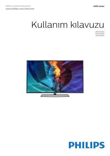 Philips 6000 series Téléviseur LED plat UHD 4K avec Android™ - Mode d'emploi - TUR