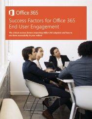 Success Factors for Office 365 End User Engagement