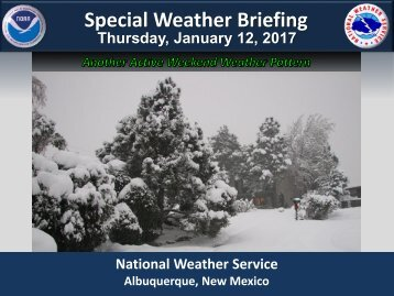 Special Weather Briefing