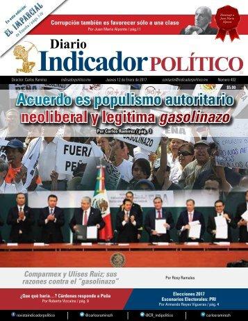 Acuerdo es populismo autoritario neoliberal y legitima gasolinazo