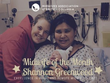 Midwife of the Month Shannon Greenwood