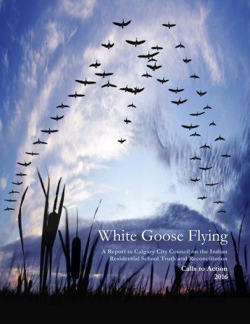 White Goose Flying