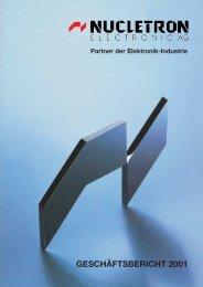 und Verlustrechnung für 2001 - Nucletron Electronic Vertriebs GmbH