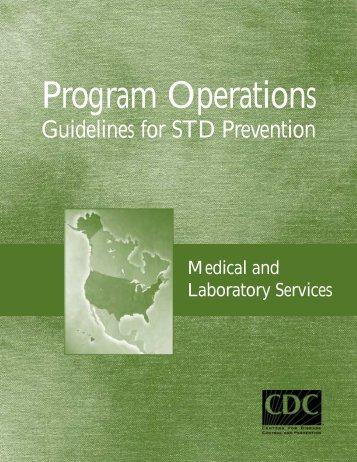 Program Operations Guidelines for STD Prevention