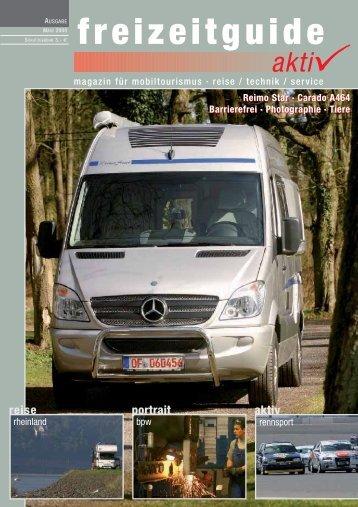 freizeitguide aktiv - magazin für mobiltourismus März 2008
