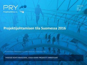 Projektijohtamisen tila Suomessa 2016