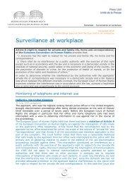 Surveillance at workplace