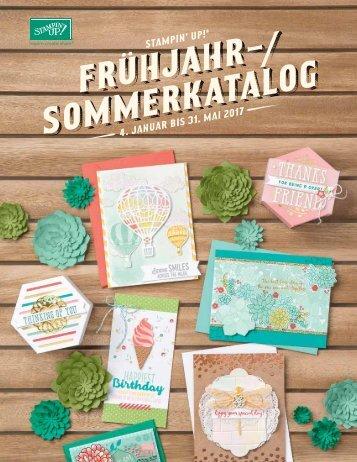 Frühjahr-/Sommerkatalog von Stampin´up. Gültig bis 31.Mai 2017