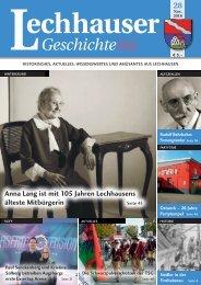 Lechhauser Geschichten November 2016
