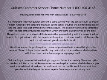 Quicken software support Number  1-800-406-3148