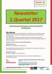 Newsletter 1.Quartal 2017