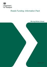 Roads Funding Information Pack