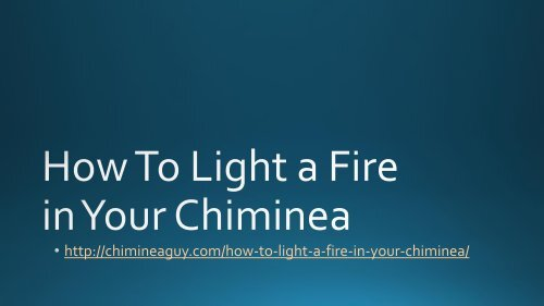 How to Light a Fire in Your Chiminea