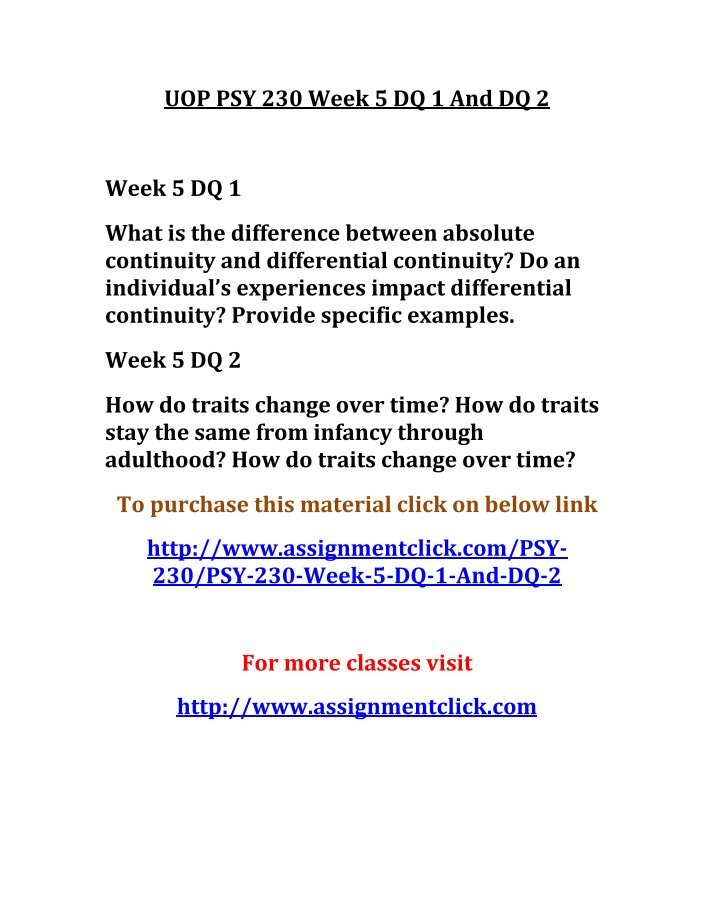 psy 350 week 5 dq 1 Ashford psy 350 entire course for more course tutorials visit wwwtutorialrankcom tutorial purchased: 6 times, rating: a+ ashford psy 350 week 1 dq 1 methods.