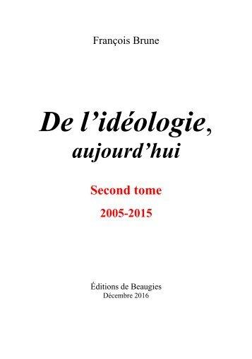 De l'idéologie